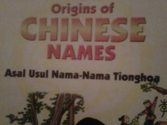 Origins of Chinese Names